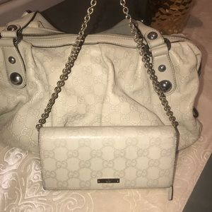 Gucci - Gussissima Leather clutch wallet